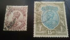 India . Scott's #s 97 & 101. Used. King George V.  sal's stamp store