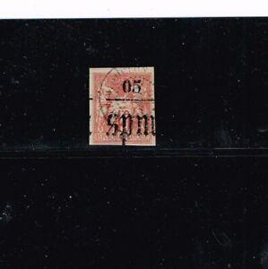 St. Pierre & Miquelon 1885, 05 on 40c handstamped SPM Scott #1 signed.