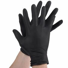 Ez Gloves Black Nitrile Gloves, 5.5 mil, Powder Free, Case of 1000 - Medium