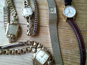 Job Lot Quality X 5 Vintage /Ladies Mechanical Watches inc. Gruen, Longines