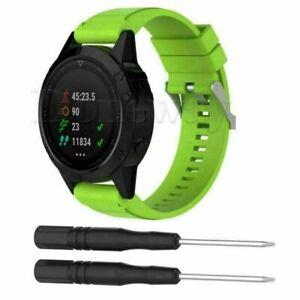 Silicone Watch Band Strap Sports For Garmin Fenix 3/3 HR /Sapphire & Quatix 3