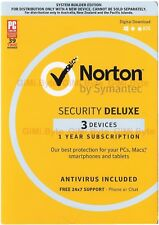 Symantec Norton internet security deluxe 2019 3 PC Device Windows Mac OS Android