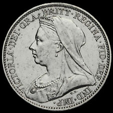 More details for 1899 queen victoria veiled head silver maundy fourpence