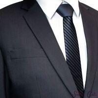 zweifarbige Herren Krawatte gestreift + Anleitung Streifen Schlips grau