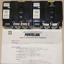1 NEW SQUARE D POWER LINK REMOTE BREAKER EHB-34020PL 3 POLE 20AMP 277V