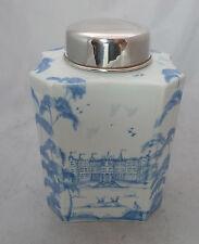 Vintage Silver Mounted Tea Caddy Birmingham 2001 15cm A615217