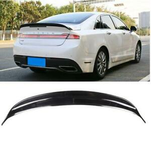 Glossy black FOR Lincoln MKZ 2015-2020 Rear Tail Trunk Spoiler Wing Lip Trim ABS