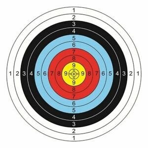 Archery Paper Targets Arrows Bow Shooting Outdoor Range Replacement 30 Pcs