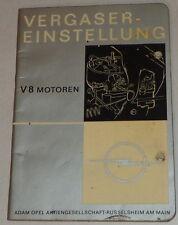 Handbuch Vergaser Einstellung Opel V8 Admiral + Diplomat A Stand 02/1966