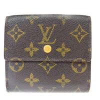 Auth LOUIS VUITTON Elise Trifold Wallet Purse Monogram Leather M61652 03BK340