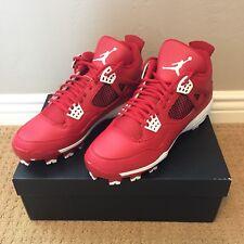 Nike Air Jordan IV 4 MCS Gym Red Black Baseball Softball Cleats Mens Sz 11.5
