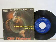 Cliff Richard - Congratulations / High 'N' Dry - Single - 1968 - Spain - VG/G
