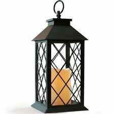 "13"" Candle Lantern Vintage Flickering LED Pillar Flameless Hanging Light Decor"