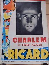 More details for vintage poster for magician !!!  charlem   circa 1950   original authentic