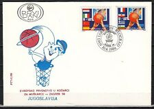Yugoslavia, Scott cat. 1968-1969. Basketball issue on a First day cover.