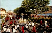 Vintage Postcard Ilha Terceira 1961 Saint Pedro Procession Posted France Postage