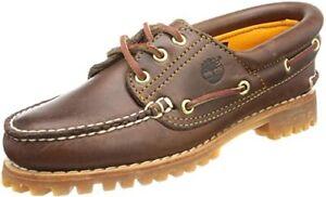 Timberland Neu Noreen 3 Eye Classic Bootsschuh Braun Gr:39,5 51304 Boat Sneaker