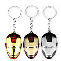 IRON MAN Mask Keychain SuperHero Marvel Movie Comics 3D Metal Keyring Key Chain
