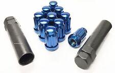 (24) BLUE SPLINE LUG NUTS + 2 KEYS | 12X1.5 | TOYOTA FJ TUNDRA 4RUNNER TACOMA