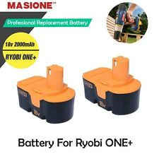 Two (2) Pack For Ryobi ONE PLUS ONE+ 18V Volt Compact NiCad Battery P100
