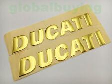 Motorcycle 3D Golden Racing DUCATI Logo Emblem Decal Tank Fairing Badge Sticker