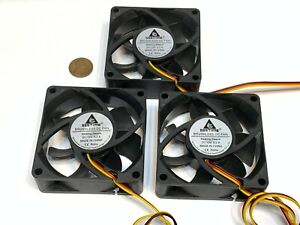 3 pieces 7025 GDStime 7cm 70mm DC 12v Brushless Cooling 3pin Blower Fan A34