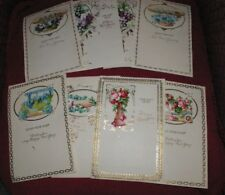 8 Antique Victorian Jewish New Years Embossed Stationary Lithographed die cuts