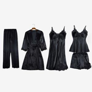 Carlty's Silk Pyjamas-Ladies Sexy Lingerie- Luxury Nightwear- 5 Piece Pyjama set