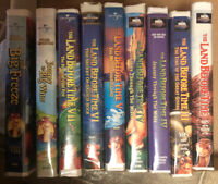 LOT OF 9 The Land Before Time VHS Journey To Big Water The Big Freeze