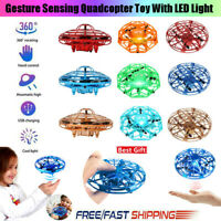 UFO Drone Mini Smart Flying Drone Hand-Controlled Induction Levitation Kid wb