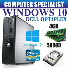 Windows 10 Dell Ordinateur Pc de Bureau Intel Core 2 Duo E8400 @ 3.00GHz 500gb