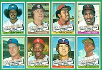 1976 TOPPS TRADED SET   NM/MT   LOLICH  RIVERS   RANDOLPH RC   OSCAR GAMBLE