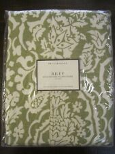 Pottery Barn Riley California King Headboard Slipcover Medici Green Cream new