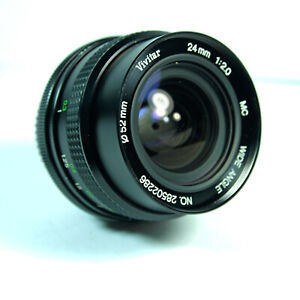 Vivitar 24mm F2 Lens in Pentax PK fit. Fast Wide Angle Lens. Excellent Cond.