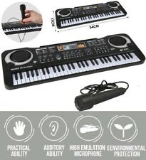Clavier Piano Numerique Electrique Synthetiseur 61 Touches avec microphone