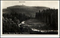 Großer Winterberg Sachsen alte Ansichtskarte ~1940 Blick vom Fremdenweg