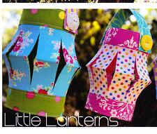 PATTERN - Little Lanterns - fabric lanterns mini PATTERN - Creative Card
