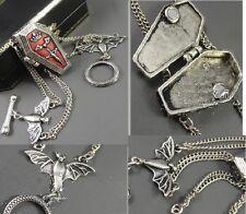 B169 BETSEY JOHNSON Vampire Hallowee Coffin Casket W/ Bat Bracelet US