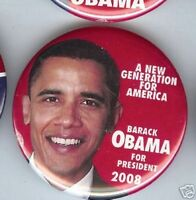 Barack OBAMA 2008 pin New Generation