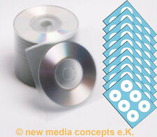 Mini CD Rohlinge 8cm 200 MB 50 Stück inkl. 60 Etiketten und 50 Kunstoffhüllen