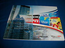 THE PARTNERSHIP Promotional Book on DISNEY ESPN Deal with COMCAST CABLE Media
