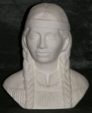 George's Ceramic Bisque Indian Bust of Sacajawea Ready to Paint
