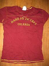 HARD ROCK CAFE Orlando T shirt juniors large maroon Rock Star logo est 1971