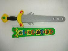Vintage TMNT 1990 Rare Teenage Mutant Ninja Turtles Bubble Sword Weapon & Sheath