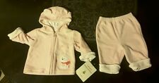 Carters Girls Jacket Pants 3 Months 2 pc Outfit Pink Soft Fuzzy Warm NEW Gift