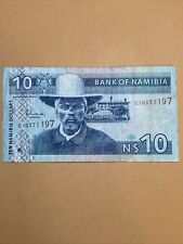 Namibia 10 Nimibia Dollars Circulated Paper Money - Early Issue with Springbok