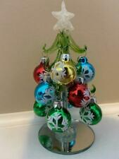 """Christmas Tree Mini Glass Tree with Ornaments 6.5"""" Tall (FREE SHIPPING) 2"""