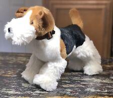 "Adorable Kellytoy Plush Wire Hair Fox Terrier Dog - Standing 10""High 14"" Long"