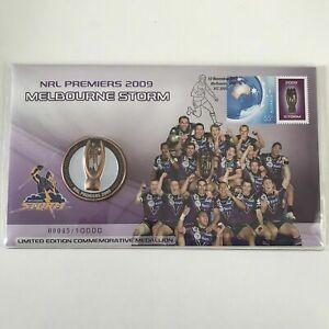 2009 NRL Premiers Melbourne Storm Medallion Cover PNC Low Number #45