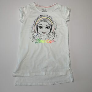 """If It Were Me Girls White Graphic Tee """"Dance"""" Size 7-8"""